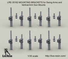 Live Resin 1:35 MOUNTING BRACKETS for Swing Arms and Vertical Arm Gun LRE35162*