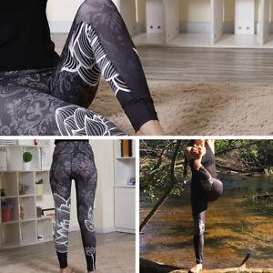 ... Femme-Legging-Yoga-Gymnastique-Sport-Pantalons-Collant-Moulant- a2bcdb38abc