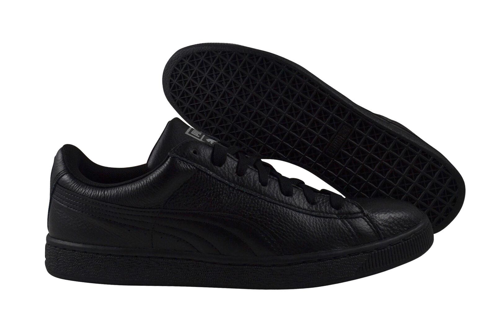 Los zapatos más populares para hombres y mujeres Puma Basket Classic reflective Black Silver cortos zapatos negro 360147 02