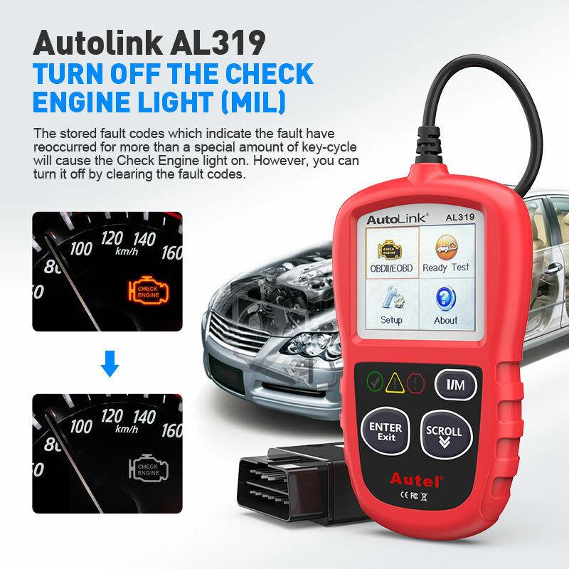 Autel Autolink AL319 OBD2 CAN OBDII Auto Car Code Reader Diagnostic Scanner Tool 6
