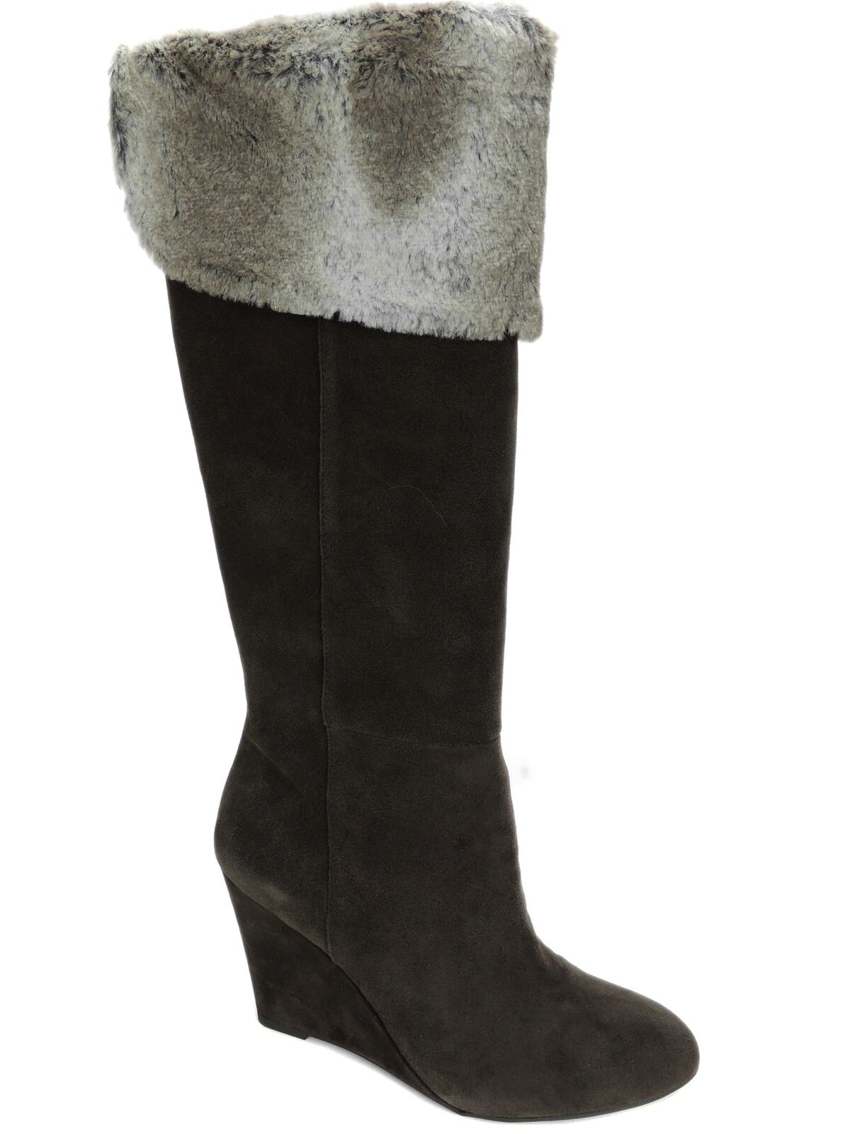 BCBGeneration Women's Mocha Calf Boots Onyx Brown Oily Suede Size 8 M