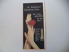 advertising Pubblicità 1962 KALODERMA GELEE
