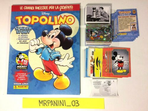 TOPOLINO Sticker Story CARDS COMPLETO Panini 2018 ALBUM+Set Figurine-Stickers