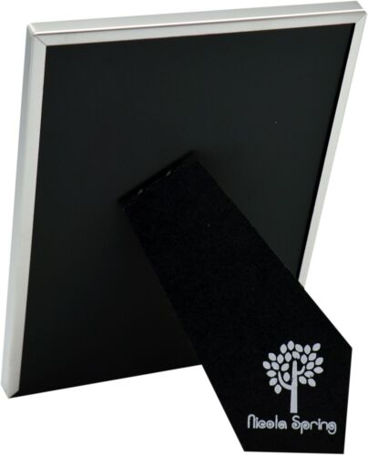 Silver Photo Frame Glass Metal Standing Picture Desk Display 6x8