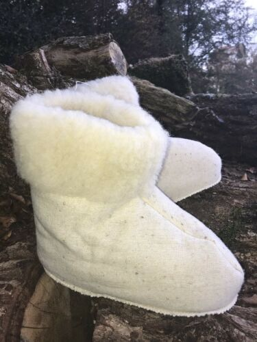 Hausschuhe Hüttenschuhe Lammfell Schafwolle Schaffell 38 valenki Schuhe Wolle