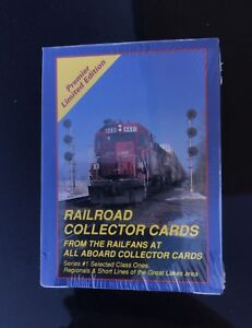 Rare-Railroad-Train-Collector-Cards-All-Aboard-Series-1-46-Cards-1991-New