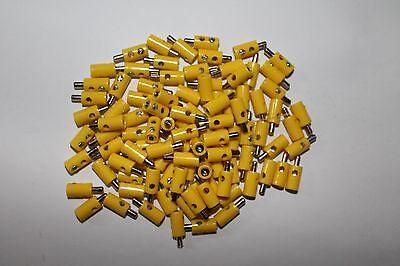 Forte Modellismo Ferroviario Tappo Foro Trasversale; 2,6mm; Giallo; Nuovo; 10 Pezzi