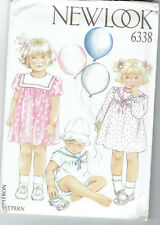 NEW LOOK PATTERN #6338 FIVE SIZES IN ONE 3, 6 12 18 & 24 MONTHS BABY