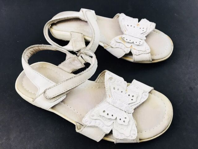24ceaedaa9f STRIDE RITE Kids Youth Girls Size 12N Sandals White Leather Ankle Strap  Shoes