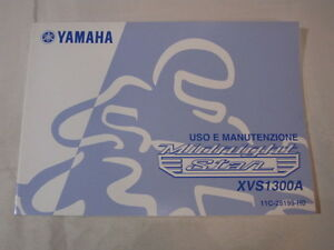 YAMAHA-XVS1300A-MIDNIGHT-STAR-2006-OWNER-MANUAL-USO-E-MANUTENZIONE