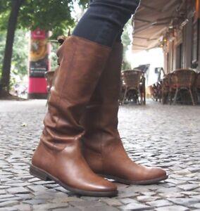 the latest a3e15 b1af7 Details zu SPM Schuhe NEU Damenstiefel CALVADOS braun 13812693 dk cuoio  Boots Echtleder NEU
