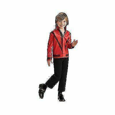 Red Military Jacket Michael Jackson Pop Star Fancy Dress Halloween Child Costume