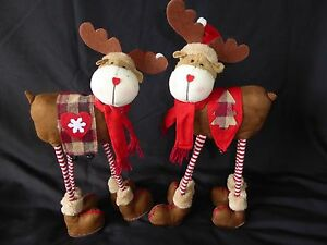 Sale Large Soft Standing Xmas Reindeer Flexible Novelty Christmas