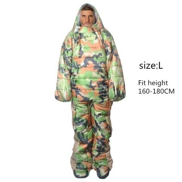 DON HARDWARE Wearable Sleeping Bag Full Body Suit Adult Camping Festival Unisex