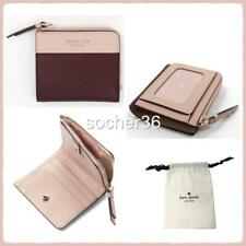 Kate Spade Leather Cameron Small L Zip Bifold Wallet Cherrywood/warm Vellum