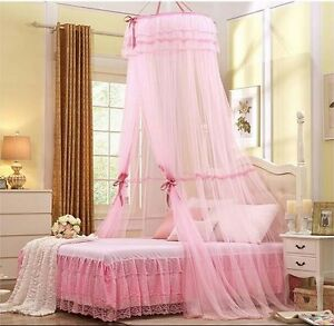 Princess-Lace-Mosquito-Net-Canopy-For-Single-Double-Queen-King-Bed-Size-4-Color