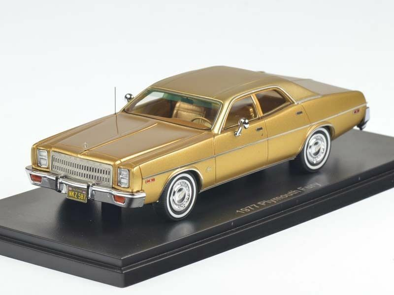 Neo  1 43  Plymouth Fury 4-Door Sedan  gold