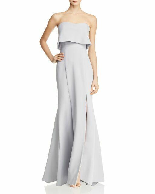 Aqua Crepe Bustier Gown Größe 10  G265 MSRP
