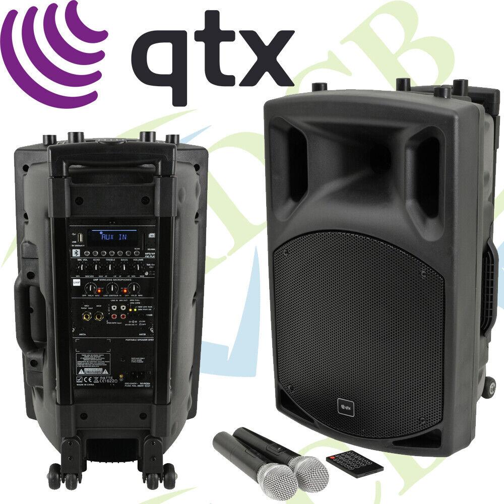 QTX QX12PA-Plus Portable USB Bluetooth DJ Band Karaoke 12