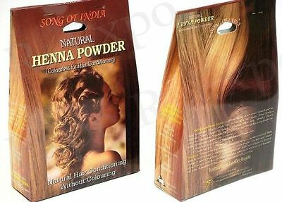 Song Of India 1 Natural Henna COLOURLESS HAIR CONDITIONING POWDER 100 grams NEW