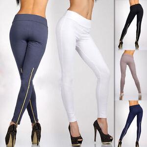 ec988802c9fe1 Women Winter Skinny Tight Zip Leggings Stretch Pant Slim Jeggings ...