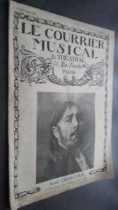 Revista El Correo Musical y Teatral Dos Veces Al Mes Rene Lapelletrie París N 15