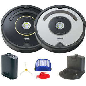 iRobot-Roomba-650-or-655-Automatic-Robotic-Vacuum-w-Dock-Black-or-Silver