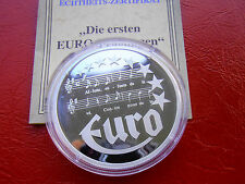 1997 France  Large Proof Silver 10 Euro-Music sheet-Marseillaise
