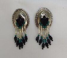 South Western Style Concho Beaded Earrings Post Style pierced ears