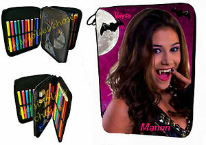 purchase cheap multiple colors fashion style Details about School pencil lined chica vampiro customizable name ref 10-  show original title