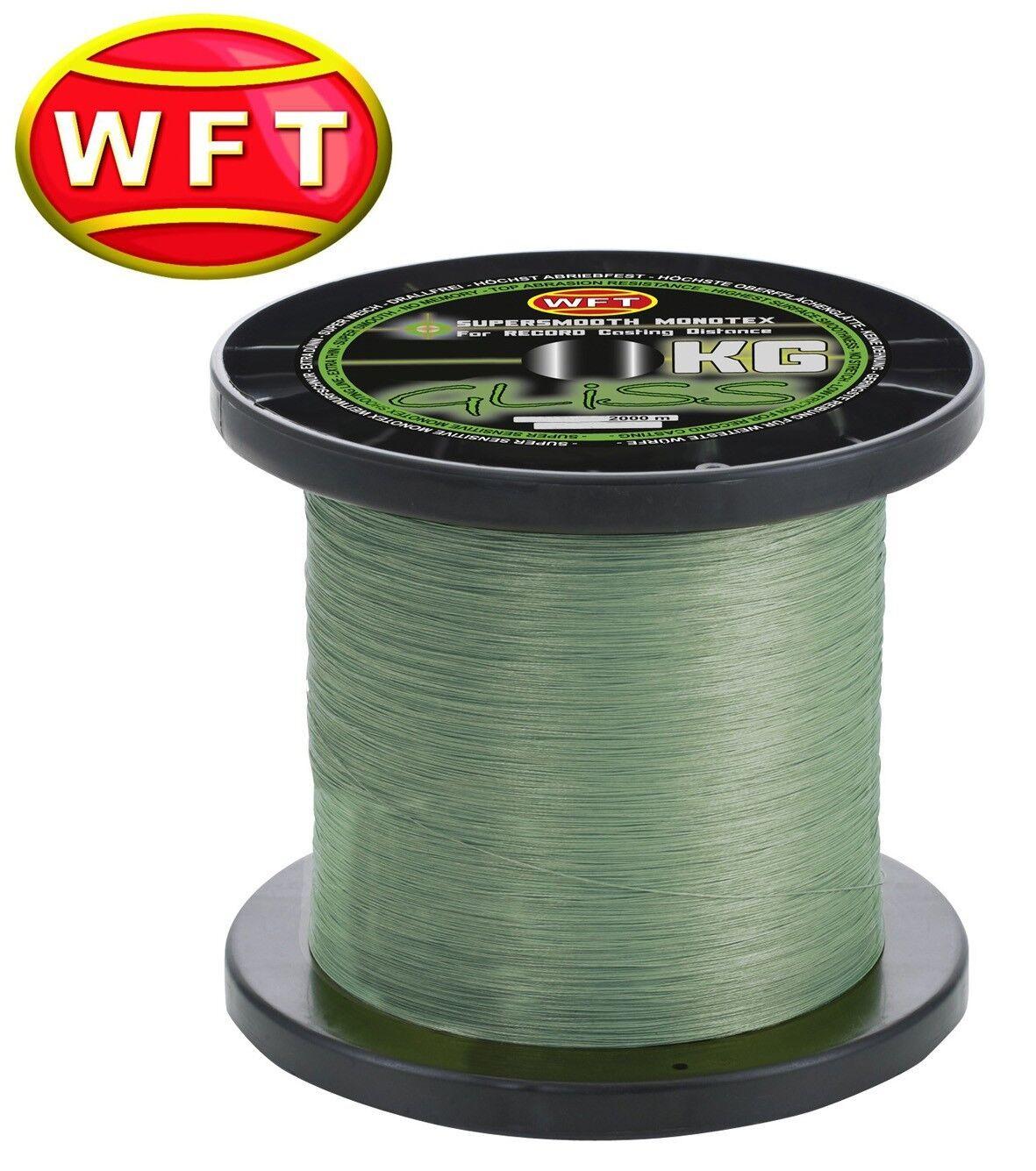 (  1m) WFT Gliss KG Monotex Line 2000m grün, monofile Angelschnur