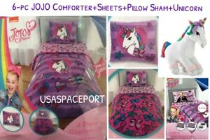 6pc Jojo Siwa Comforterpillow Shamsheets Unicorn Set Twinsingle