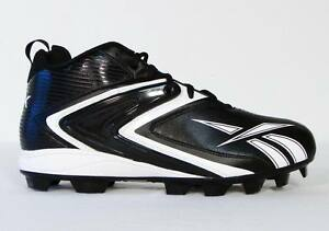 Reebok NFL Play Dry Black   White Football Cleats Mens 14 NEW  9a60c365a