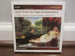Great-Works-for-Organ-amp-Harpsichord-J-S-Bach-Weckmann-Froberger-etc-4-CDs