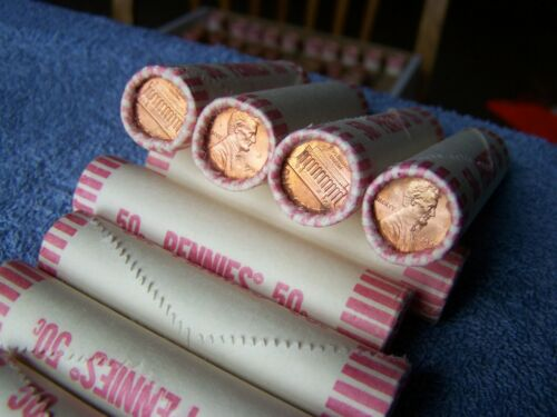 1984 **Original Bank Wrapped ** Uncirculated Lincoln Cent Roll H OBW Pennies
