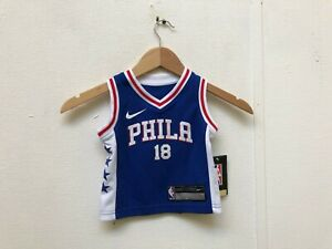 quality design 38d62 5085f Details about Nike Kid's Philadelphia 76ers Icon Jersey - 18 Months -  Belinelli 18 - Blue -New