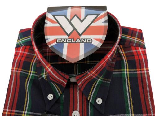 Warrior UK England Button Down Shirt PISTOLS Hemd Slim-Fit Skinhead Mod