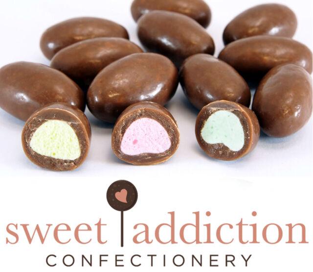 1kg Clangers Milk Chocolate Pink Yellow Green Bulk Candy Buffet -Sweet Addiction