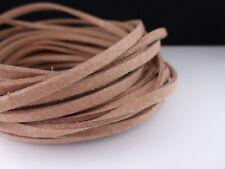 5m x 3mm Caramello Marrone In Finta Imitazione Pelle Scamosciata Cavo Tanga Perline Collana