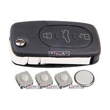 Fits Audi A3 A4 A6 A8 TT Replacement 3 Button Remote Key FOB Case Repair Kit
