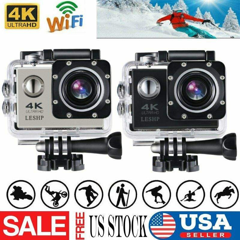USA 1080P 4K WIFI Sports Action Camera Ultra HD Waterproof DV Camcorder 16MP Lot 1080p 16mp action camcorder camera sports ultra usa waterproof wifi