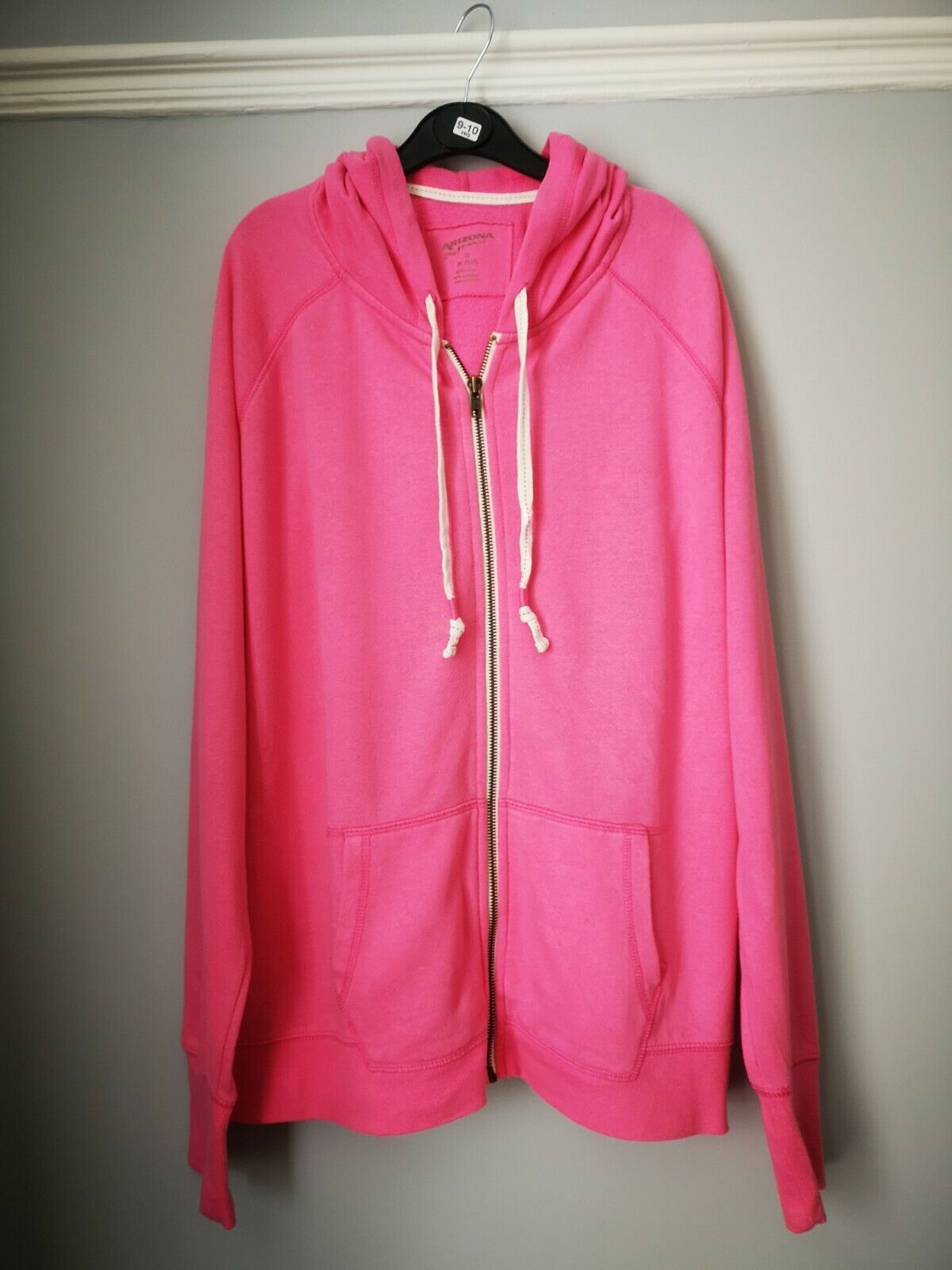 Arizona Jean Co Pink Zip Hoodie With Pockets UK M a good Condition