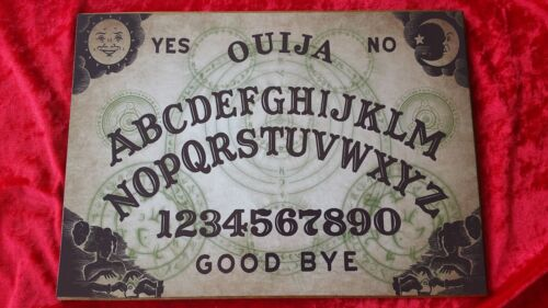 Wooden Ouija Board game Arcane Spirit /& Planchette ghost hunt Instructions Witch