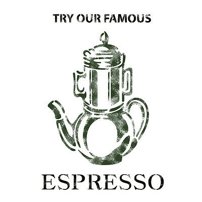 Stencil Template Espresso For Crafting Canvas DIY decor Wall art furniture