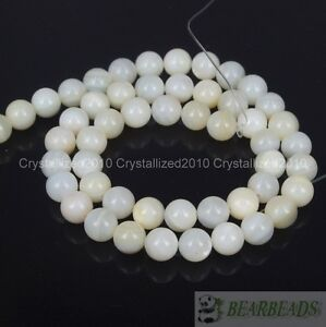 Natural-White-Mother-Of-Pearl-MOP-Shell-Round-Beads-4mm-6mm-8mm-10m-12mm-16