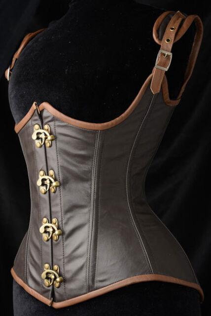 Noble Grand Steampunk Leather Clasp Corset FU5323 women plus size gothic