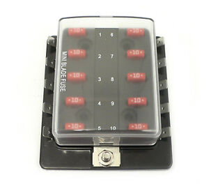 per 5607 atm mini fuse block panel 10 gang 12 volt blade. Black Bedroom Furniture Sets. Home Design Ideas