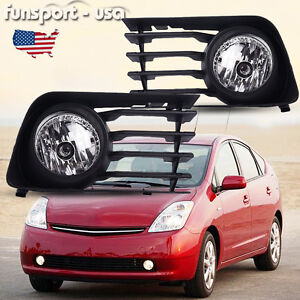 for 2004 2009 toyota prius front bumper clear fog light. Black Bedroom Furniture Sets. Home Design Ideas