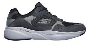 SKECHERS-MERIDIAN-OSTWALL-52952-Memory-scarpe-uomo-sportive-sneakers-camoscio