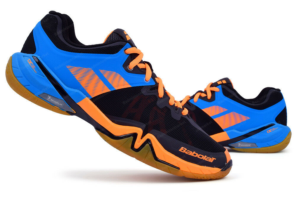 Babolat Para hombres Zapatos sombra Tour Interior Tribunal Bádminton Deporte Zapato Azul Negro